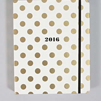 kate spade: 17-month agenda - gold dots