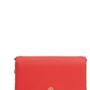 Tory Burch Robinson Leather Wallet on a Chain | Nordstrom