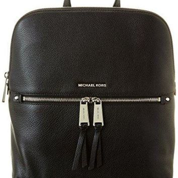 Michael Kors Rhea Zip Medium Slim Backpack - Black