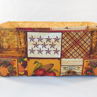 Large Fall Themed Fabric Basket For Storage, Gift Giving or Bread Basket