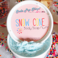 Snow Cone Whipped Body Soap Fluff 8oz