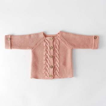 Baby Girls Clothes Autumn Baby Cardigan Infant Newborn Baby Girl Sweater Boys Knited Outerwear Cotton Toddler Sweater Clothing