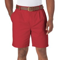 Chaps Classic-Fit Twill Double-Pleated Shorts - Big & Tall, Size:
