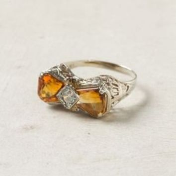Citrine & Diamond Bow Ring
