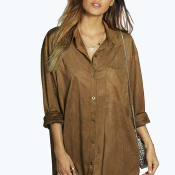 Tammy Oversized Suedette Shirt