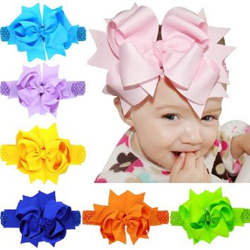 Little Girls Big Bow Hairband Hair Clips Kids hair Bow Headband Headwear for Birthday Party Girls Hairpin Accessories HB178