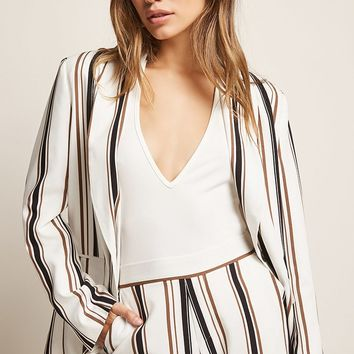 Single-Breasted Striped Blazer