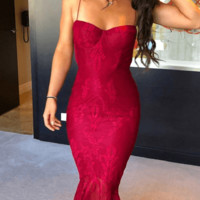 Independent Gal Lace Bandage Dress