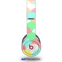 Brushed Cirlces Multi Light Decal Style Skin fits Beats Solo HD Headphones - (HEADPHONES NOT INCLUDED)