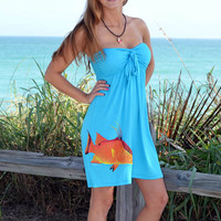 Blue Tubetop Hogfish Dress