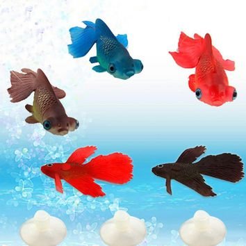 Glow In Dark Artificial Aquarium Ornament Fish Tank fish Decor