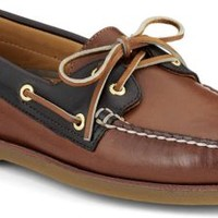Sperry Top-Sider Gold Cup Authentic Original 2-Eye Boat Shoe Tan/BrownLeather, Size 8.5W  Men's Shoes