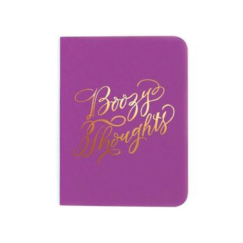 """Boozy Thoughts"" Notebook"