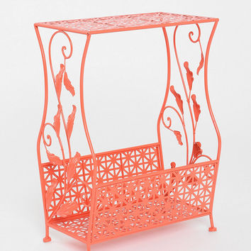 Flourish Side Table in Coral - Urban Outfitters