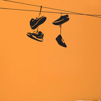 Vinyl Wall Decal Sticker Brooklyn Shoes On Wire #1529