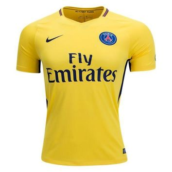 KUYOU PSG 2017/18 Away Men Soccer Jersey Personalized name and number