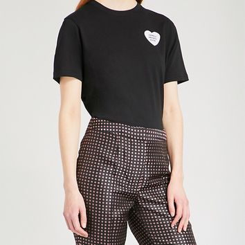 ALEXACHUNG - Lonely Hearts Club cotton-jersey T-shirt | Selfridges.com
