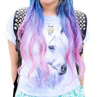 My Little Pony Pastel Ombre Clip In Hair Extensions - 100% Human Hair