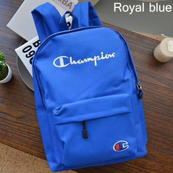 Champion 2018 street fashion men and women sports backpack travel backpack royal blue