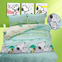 Snoopy Bedding Set/Kids Simple Fashion Duvet Cover/Bed Sheet/Pillowcase/Girls Lace Cotton Bedding