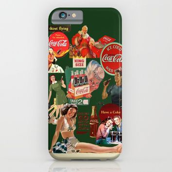 vintage coke ads iPhone & iPod Case by Rowans