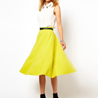 ASOS | ASOS Midi Skirt In Ponte at ASOS
