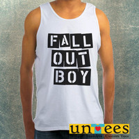 Fall Out Boy Logo Clothing Tank Top For Mens