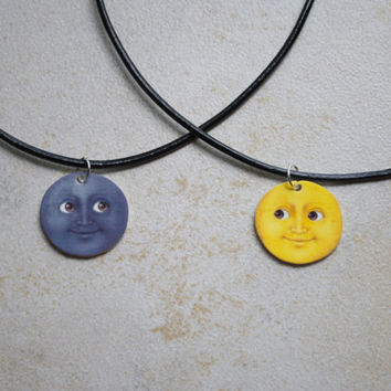 Moon Emoji Friendship Chokers