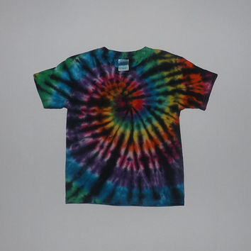 Tie Dye Swirl With Black Shirt - Choose Any Size (Adults, Kids, Toddlers) & Colors