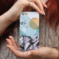 The Mountains iPhone Case in iPhone 5 and 5S, iPhone 4 and 4S