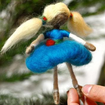 PDF Instructions or Kit for Needle felted Ballerina by SeinFelt