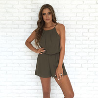 Most Wanted Romper In Olive