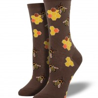 Busy Bees - Graphic Crew - Women's Socks