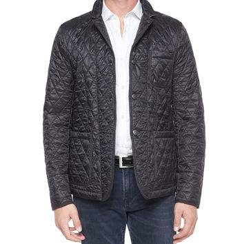 Howe Quilted Sport Jacket, Black, Size: