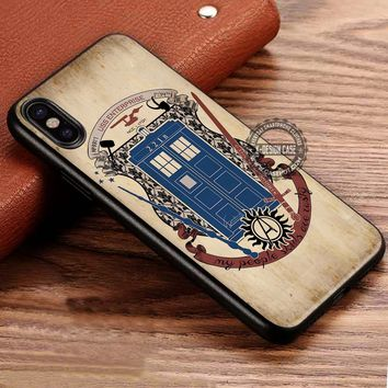 Fandoms Sherlock Tardis iPhone X 8 7 Plus 6s Cases Samsung Galaxy S8 Plus S7 edge NOTE 8 Covers #iphoneX #SamsungS8