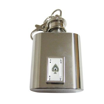 Ace of Spades Keychain Flask