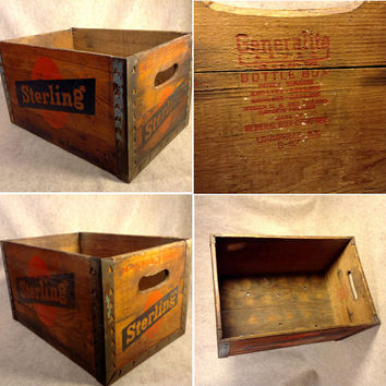 Sterling Brewers Wood Bottle Crate - From the Beer Brewery in Evansville Indiana 1933 - 1966 ?