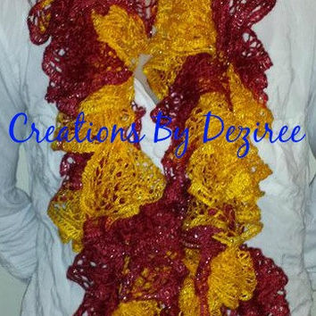 CHEIFS colors ruffle scarf!!