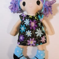Adorable Dolly Lavender Hair with Black Eyes
