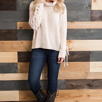 Emileigh Turtleneck Sweater (Ivory)