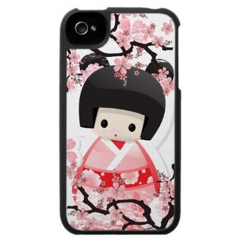 Japanese Geisha Doll - Sakura iPhone 4 Case from Zazzle.com