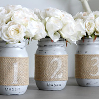 Wedding Table Numbers,Rustic Wedding Decor,Wedding Party Centerpieces