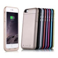 Rechagable External Battery Case 6800mAh Power Bank Case Backup Portable Charger Charging Cover For iPhone 6 Plus 5.5 3800 for 6