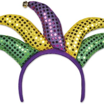 Jester Headband - Attached to Snap-On Headband #59406 Case Pack 12