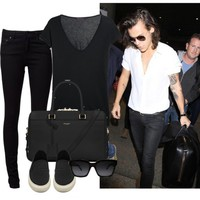 Sydney airport with Harry - Polyvore on We Heart It