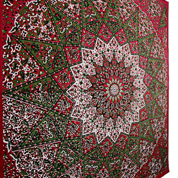 QUEEN  Star Tapestry Hippie Mandala Tapestry Psychedelic Wall Hanging Tapestries Beach Blanket Room Diviner Picnic Throw  Throw Ethnic