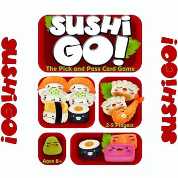 Sushi Go Board Game The Pick And Pass Cards Game 2-5 Players Family Game For Children Send English Instructions Free Ship