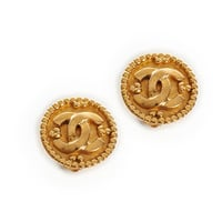 Vintage Chanel large CC rounded earrings - Vintage Heirloom