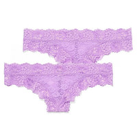 Allover Lace Mini Cheekster Panty - PINK - Victoria's Secret