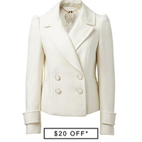 Bella Double Breasted Peacoat - Forever New